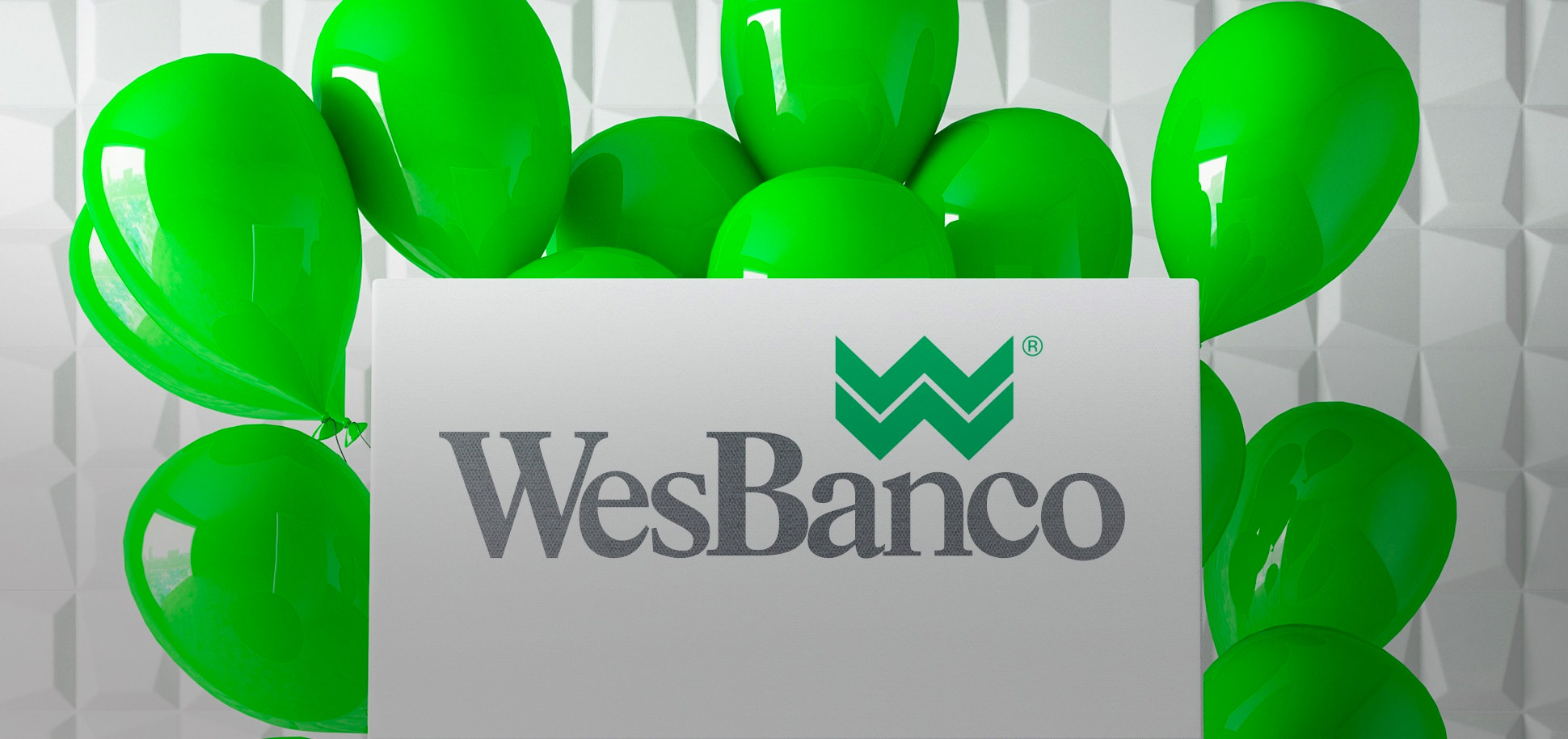 WesBanco logo with balloons